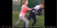 little girl vs little boy boxing