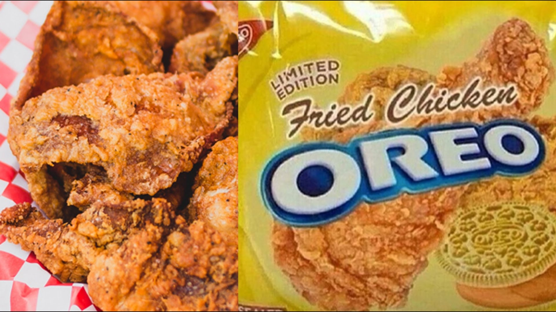 fried chicken oreos - weird oreo flavors