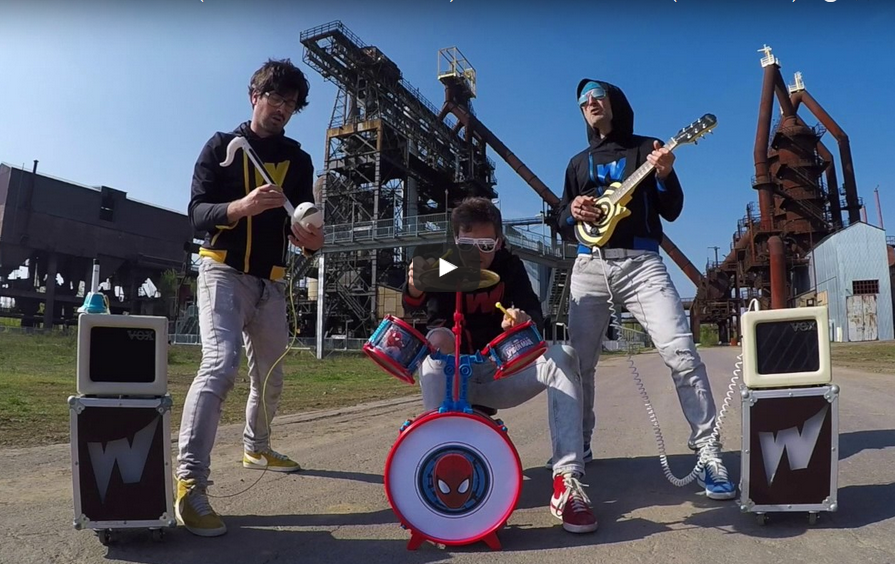 Rage Against the Machine's 'Killing In The Name' performed on toy instruments