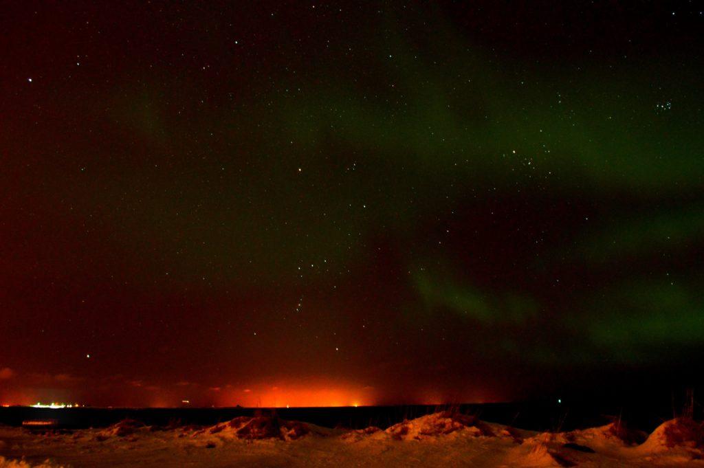 iceland northern lights in december