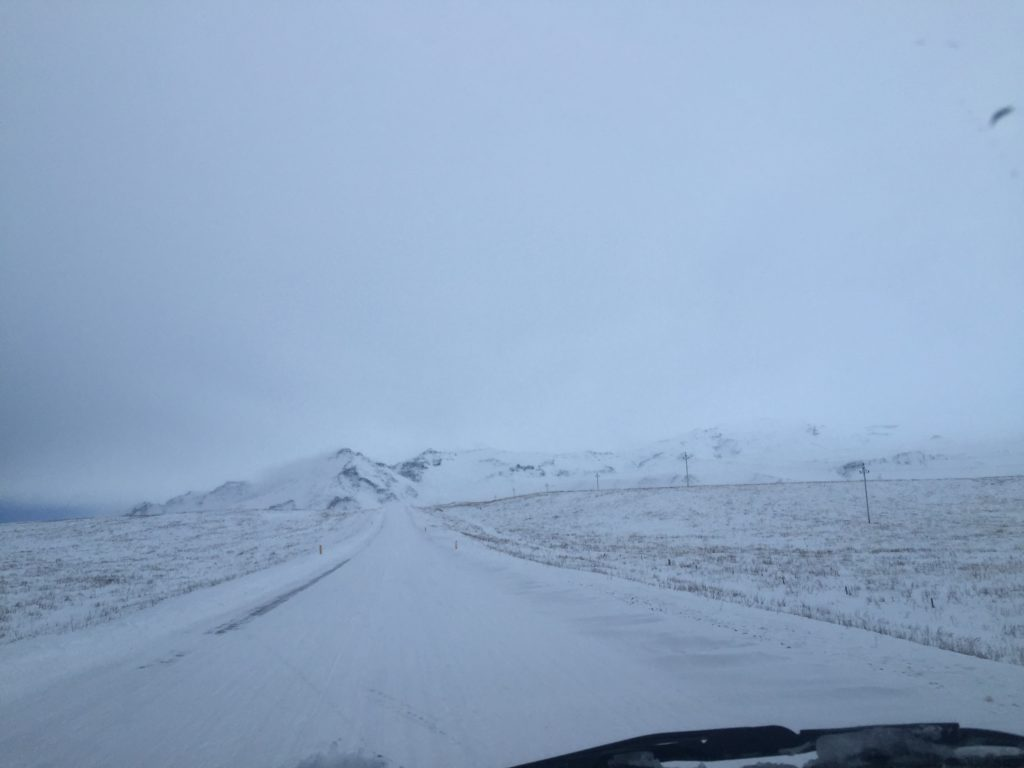 iceland roads in winter december